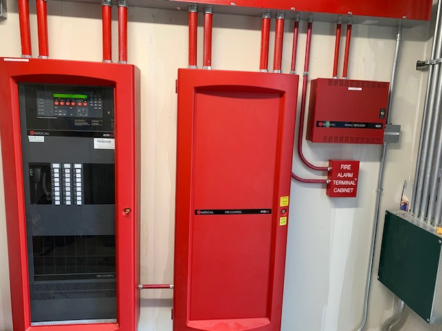 NSG Life Safety Autocall panel installation